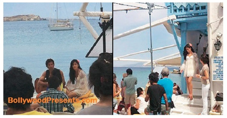 Katrina and Hrithik in Santorini, Greece for Bang Bang
