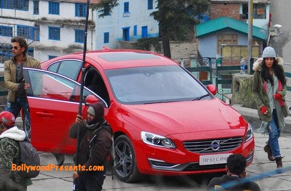 hrithik roshan, Bang Bang shoot in Simla with the volvo s60