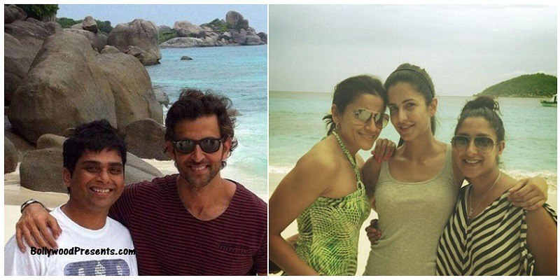 hrithik roshan, Bang Bang shoot in Thailand, with crew