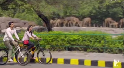 Bollywood song filmed in a zoo