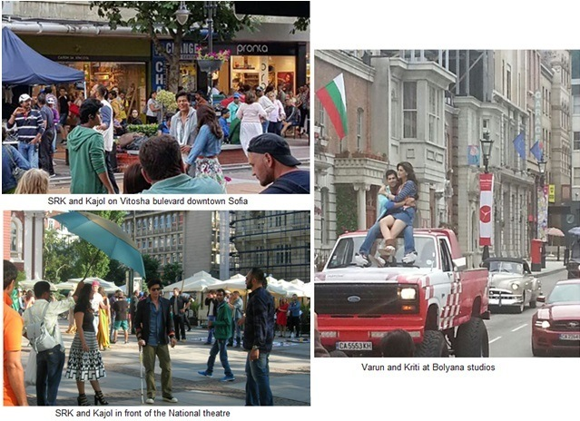 dilwale film shot in various places in Sofia, Bulgaria