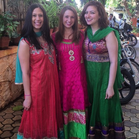 foreign students in india attending a wedding