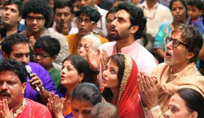 Bachchan family for Ganpati Darshan