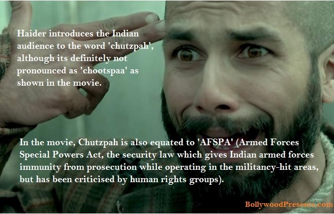 Haider - explains the meaning of chutzpah