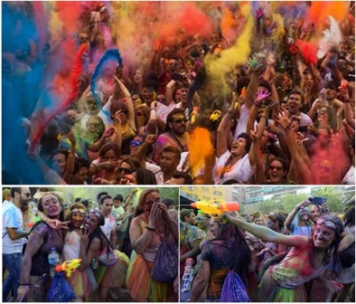 holi festival of colors in madrid