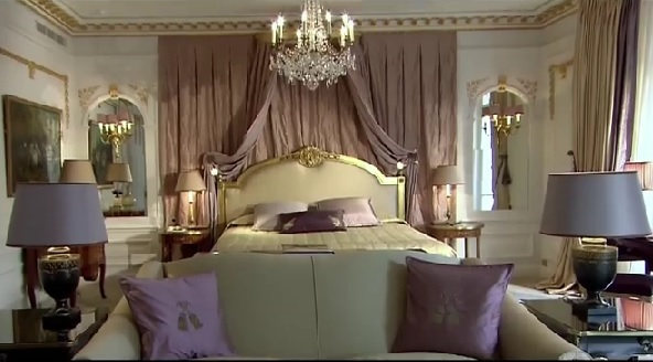 Luxorious Royal Suite at Hotel Plaza Athenee, Paris
