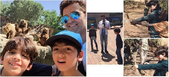 hrithik roshan and his sons holiday in Tanzania