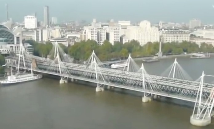 Hungerford Bridge (Golden Jubilee Bridges), London, England