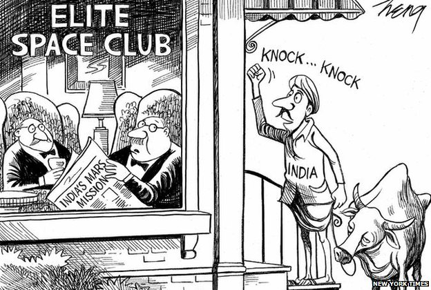 Cartoon on Mars Mission of India India Mars Mission Cartoon