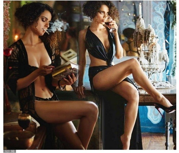 kangana in lingerie GQ shoot