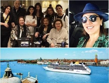kapoor family on cruise holiday