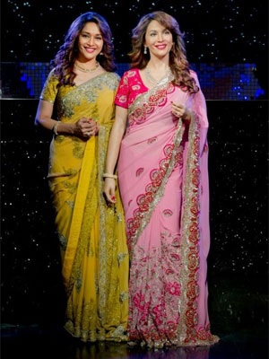 madhuri dixit nene at madame tussauds
