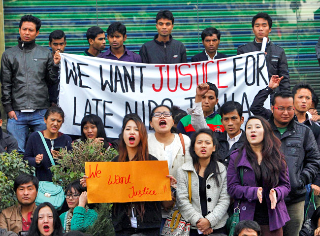 North-east Students protest