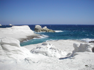 Sarakiniko Beach (Greek Island of Milos, Greece)