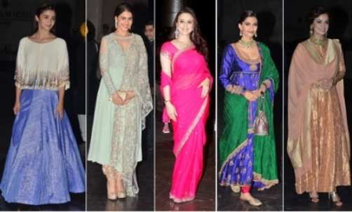 celebrities at Shahid Kapoor & Mira Rajputs Wedding Reception in Mumbai