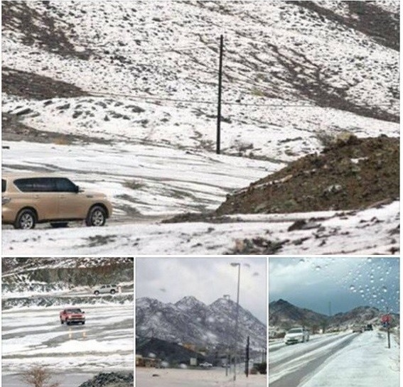 Snow in Ras Al Khaimah