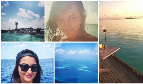 sonakshi sinha in maldives