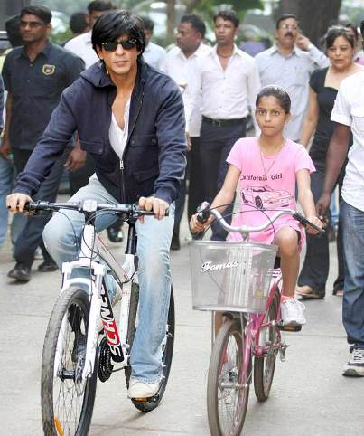 SRK with daughter Suhana