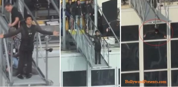 Shah Rukh khan Jumps From the Roof of Park Inn Hotel in Berlin