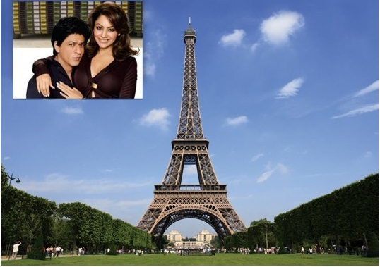 SRK & Gauri holiday in paris