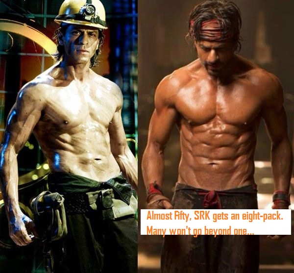 SRK's Eight pack abs in Happy New Year