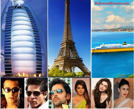Top Holiday Destinations / Vacation Spots of Bollywood Celebs