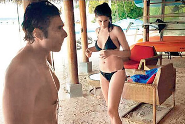 Uday Chopra and Nargis Fakhri in Maldives