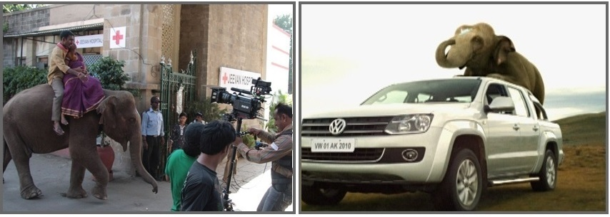 Volkswagen commercial shot in India, shown as Uruguay