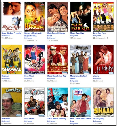 Watch Bollywood Movies FREE on Video Sites