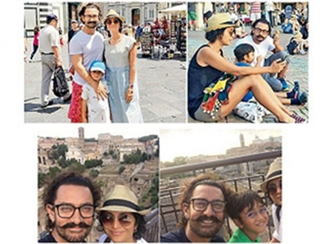 Aamir Khan family in Italy