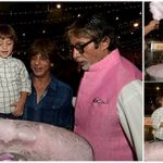 Abram having cotton candy