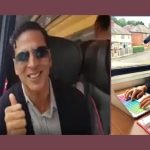 akshay kumar takes train from Leeds to London
