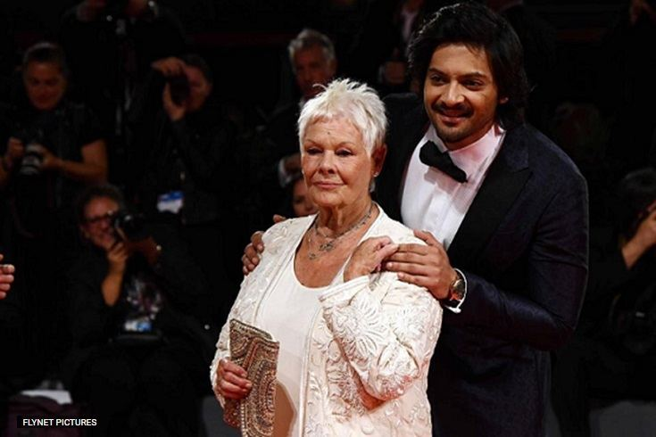 Ali Fazal with Judi Dench