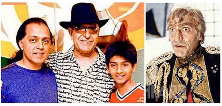Amrish Puri with son Rajeev Kapoor