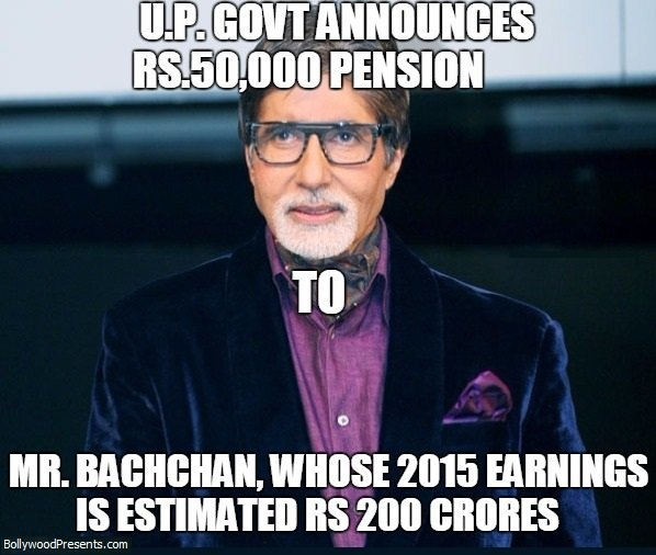 Pension for Big B