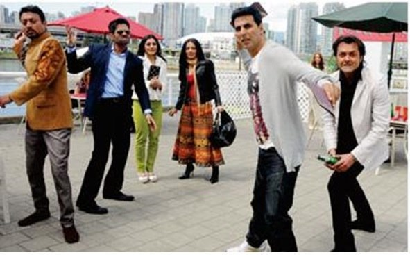 Akshay Kumar filming for Thank You in Vancouver