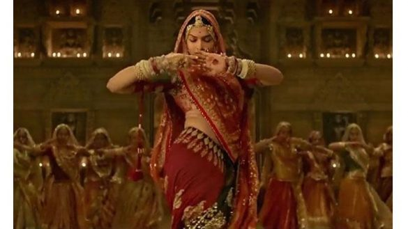 Deepika on Ghoomar song