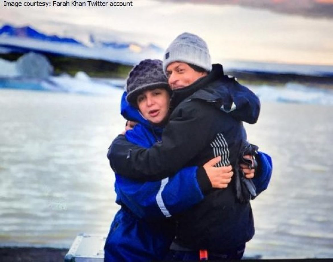 farah khan srk in iceland for Dilwale