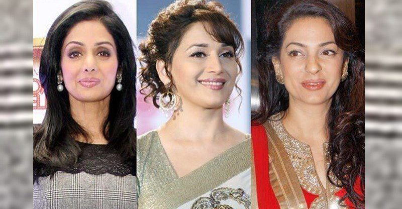 madhuri dixit's rivalry with sridevi and Juhi