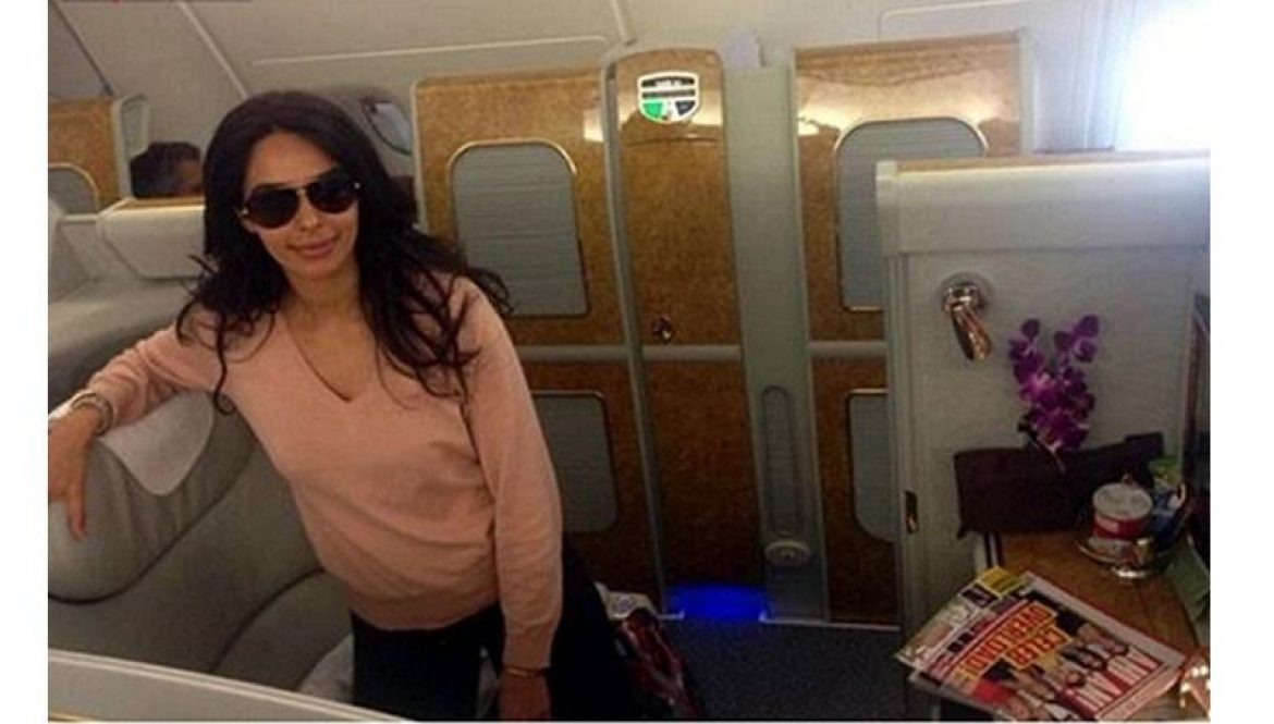 Mallika Sherawat traveling in first class suite