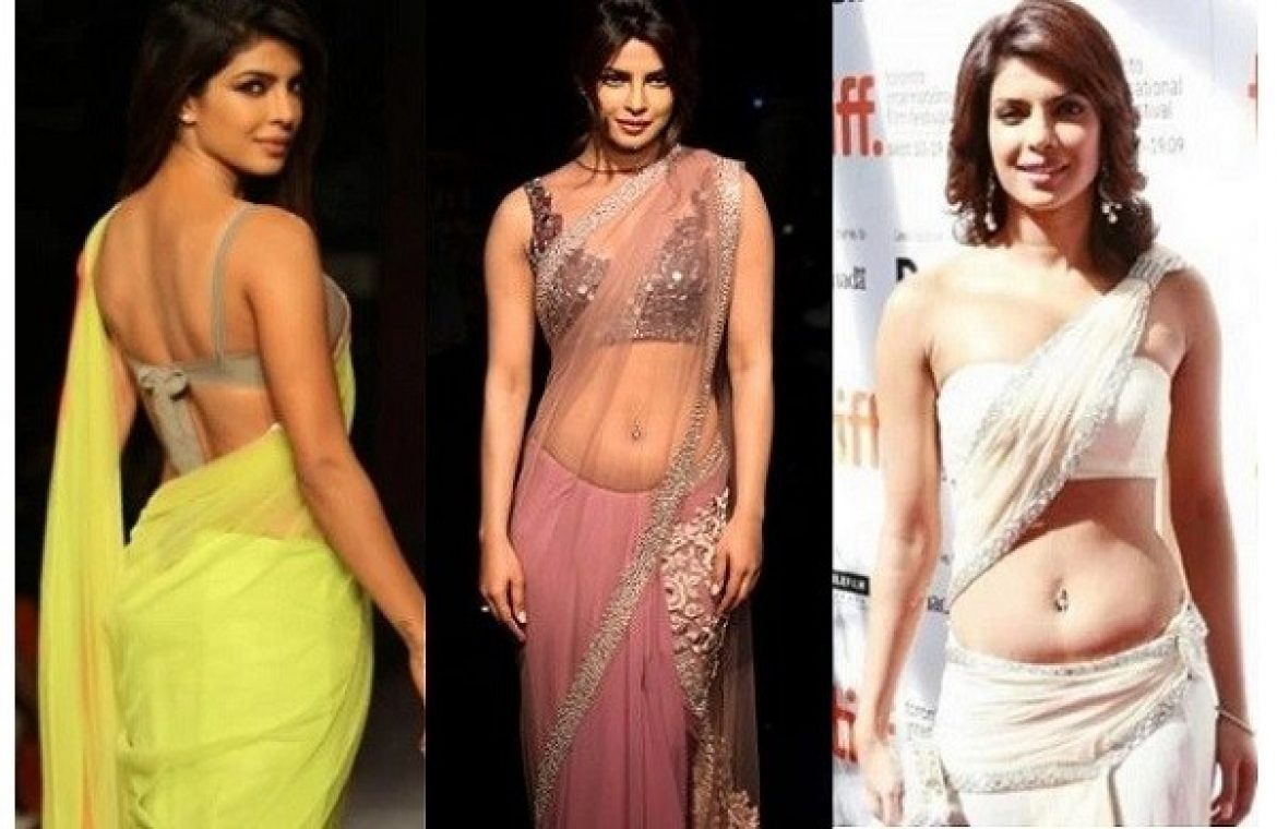 priyanka chopra in saree