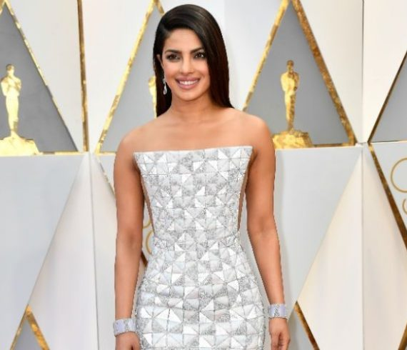 Priyanka Chopra Silver Oscar Dress