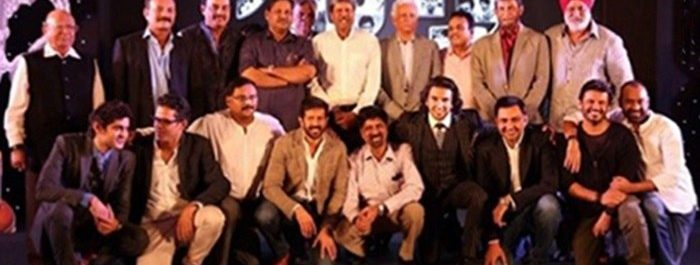 Ranveer Singh with the 1983 world cup winning team