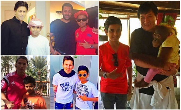 rashed belhasa with Bollywood celebs and footballers
