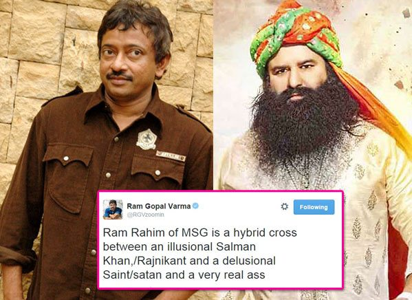 RGV offensive tweets against Ram Rahim