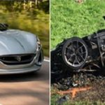 Rimac Concept One electric supercar crash