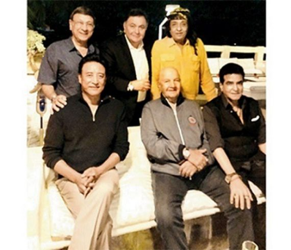 rishi kapoor with stars of 1970s