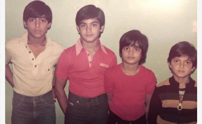 Salman siblings when Kids