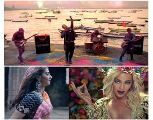 Sonam Kapoor in Coldplay music video