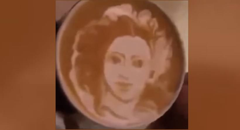 sridevi coffee art